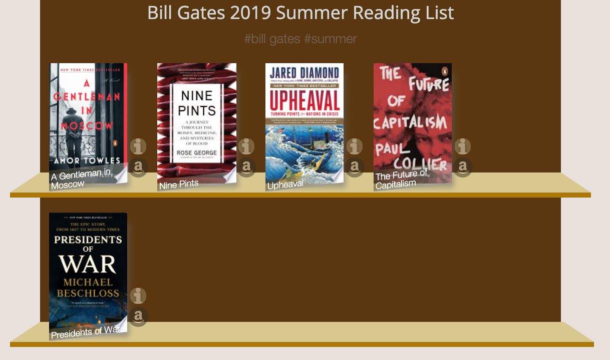 Bill gates summer reading list